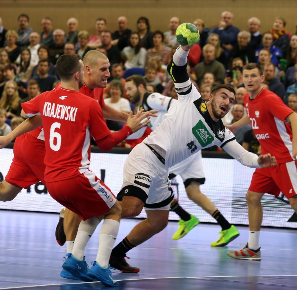 sieg in polen handballer sturmen