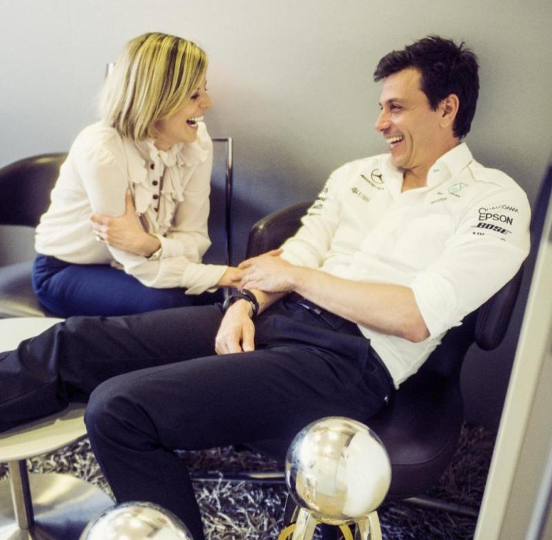 Susie and Toto Wolff, former racing drivers and today's team bosses in two different teams, provide private insights