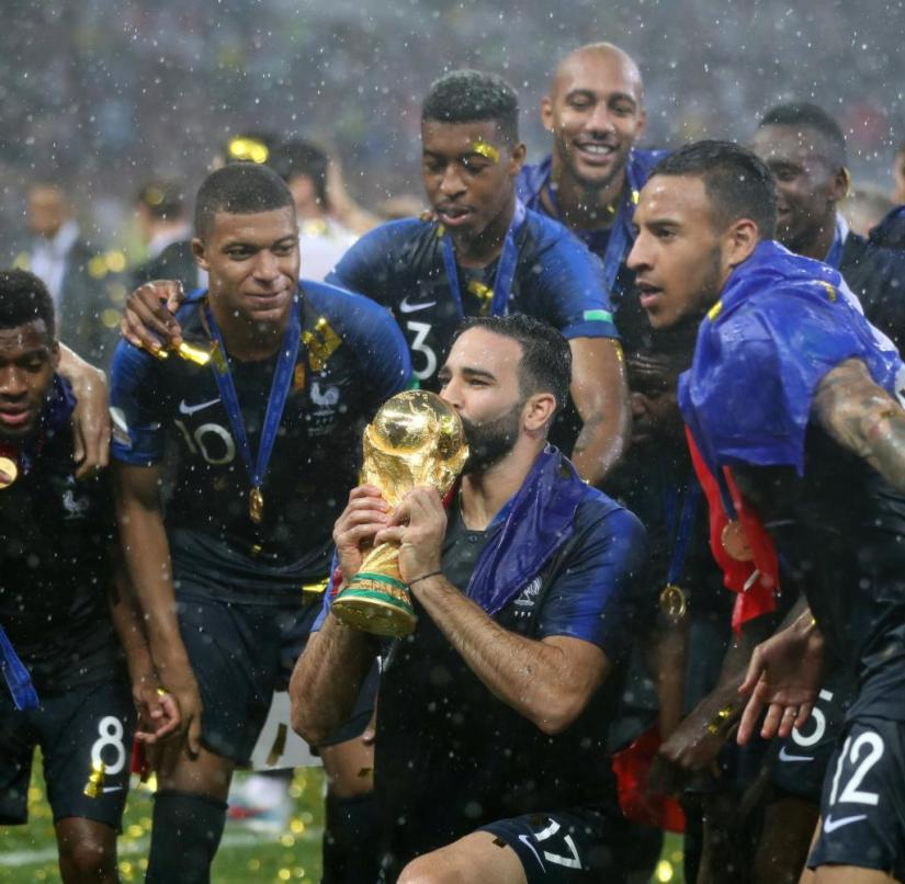 Sporting highlight: Adil Rami becomes world champion with France in Russia in 2018