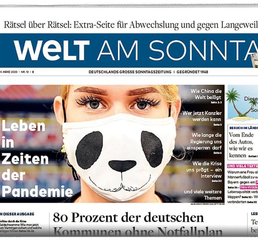 WELT AM SONNTAG from March 29, 2020
