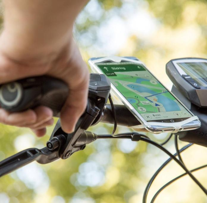 Attach mobile phone to bike