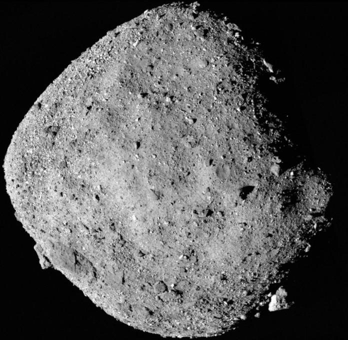 The surface of the Bennu asteroid is rocky and rough