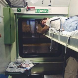 Unser Schlafabteil im Zug nach Moskau