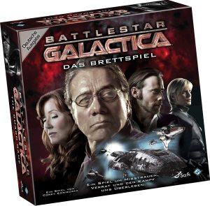 Battlestar Galactica - Das Brettspiel. Rechte bei Fantasy Flight Games und Heidelberger Spieleverlag