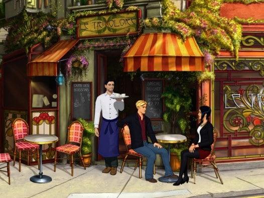 George und Nicole in einem Pariser Strassencafe