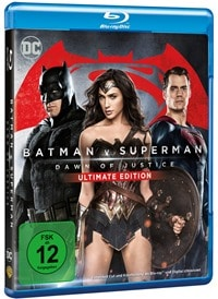 Blu-ray Cover - Batman v Superman: Dawn of Justice - Ultimate Edition, Rechte bei Warner Home Video