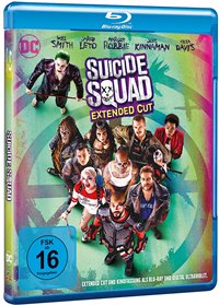 Blu-ray Cover - Suicide Squad: Extended Cut, Rechte bei Warner Bros. Pictures