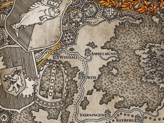 Landkartenset Die Flusslande