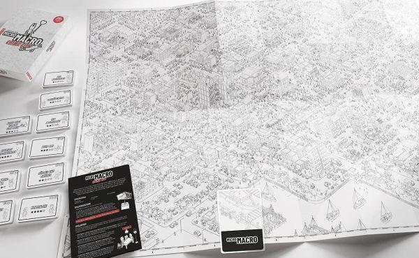 Micro Macro - Crime City - Spielmaterial, Rechte bei Pegasus Spiele