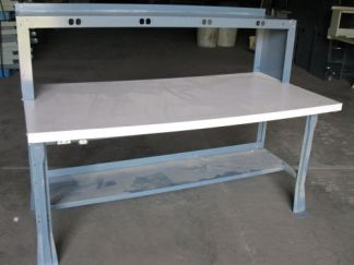"36""x72"" Formica Work Tables w/ Hutch - Used"