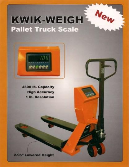 Kwik-Weigh Pallet Truck Scale - New