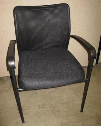 Compel Brand Mesh Back Guest Stack Chair w/Arms - New
