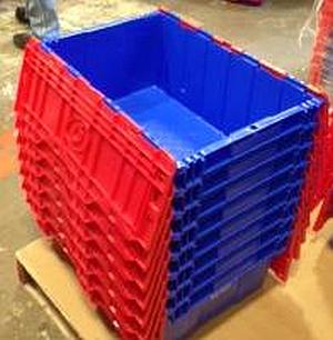 "FP-143 Blue/Red 22""x15""x9"" Fliplid Totes - New Surplus"