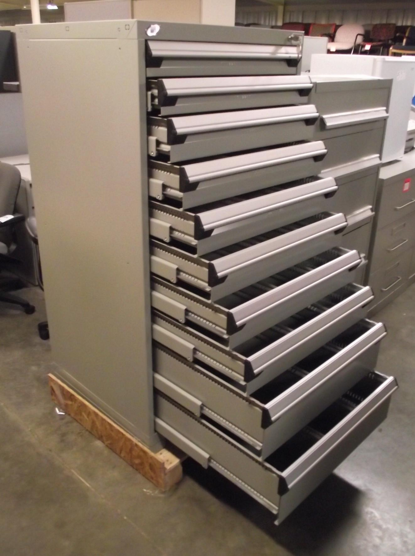 AVAILABLE  81018 Rousseau 10Drawer Gray Modular