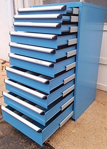 Rousseau 10Drawer Blue Modular Parts Cabinet  New