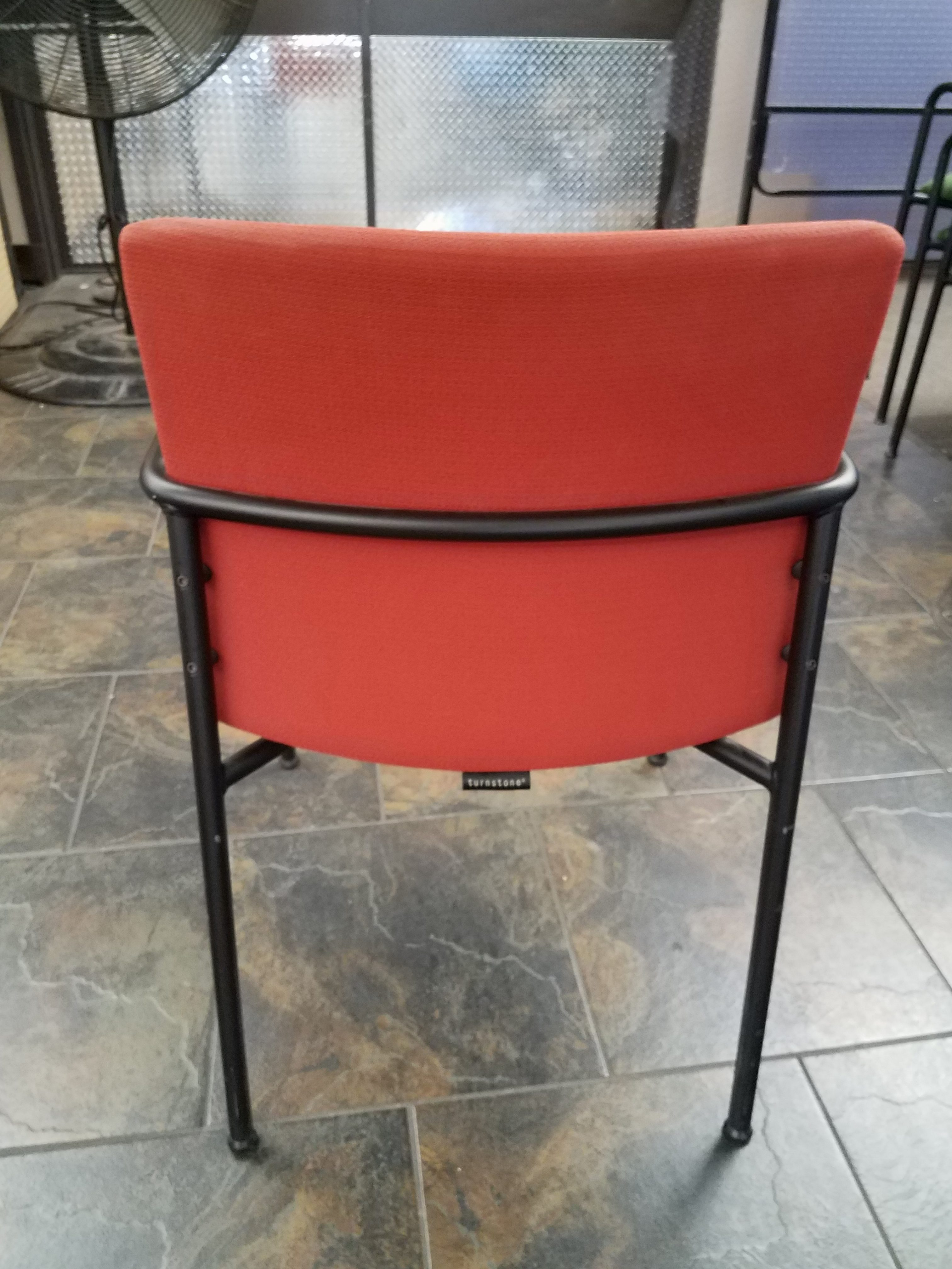 office chair rowing stressless chairs reviews steelcase turnstone quotcrew quot guest tomato red used