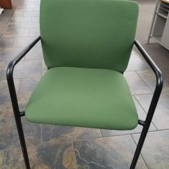 Office Chair Rowing Hanging Glass Steelcase Turnstone Quotcrew Quot Guest Chairs Dark Green Used
