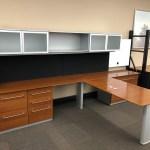 Nienkamper Tiger Stripe Desk Set W Wall Mounted Storage Used Welter Storage
