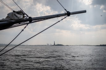 die Lady Liberty in der Ferne