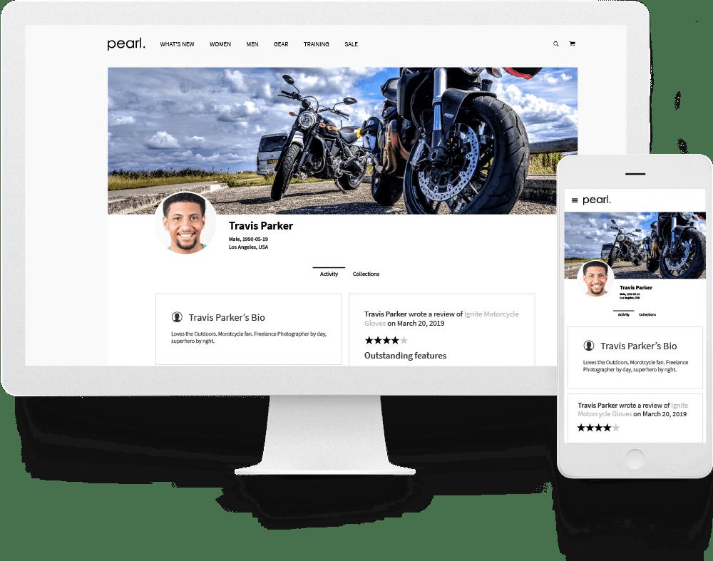 magento 2 user profile