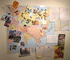 Pinnwand Landkarte