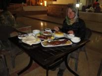 wunderbares Abendessen- immer mit Tuch