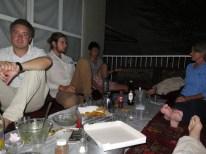 abendliche Runde bei Valis homestay