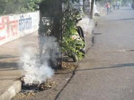 Müllverbrennung vor Ort