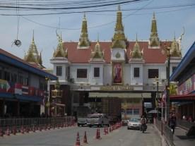 Grenze von Thailand aus Kambodschasicht