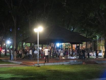 offenes Tanzen im Park
