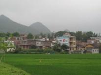 Übliches Dorfbild