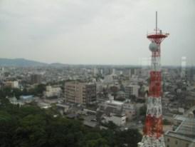 Blick vom Rathausdach auf Toyohashi