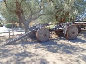 Diese Räder sind mit Holzpflöcken ausgefüllt