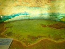 Bild des ursprünglichen Sees, auf dem nun Mexico City steht.
