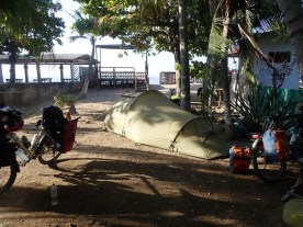 Camping vor Guesthouse