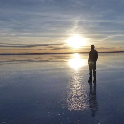 Bolivien-Uyuni-Wolf-Sonnenuntergang