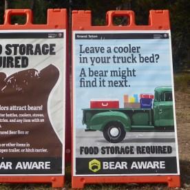 USA-BeBearAware-Plakate