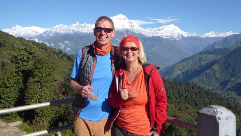 Auf dem Poonhill in Nepal | Wunschaktion bei der Weltreise von Elke Zapf und Wolfgang Eckart