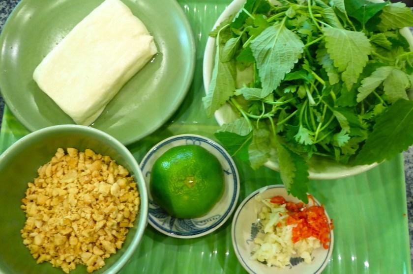 Zutaten für ein leckeres vietnamesisches Gericht
