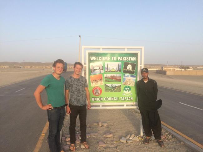 Ankunft in Pakistan