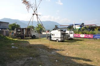 In Pokhara waren noch ein paar andere overlander