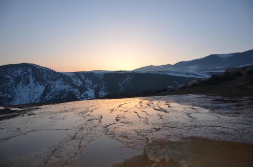 Badab Soort bei Sonnenuntergang