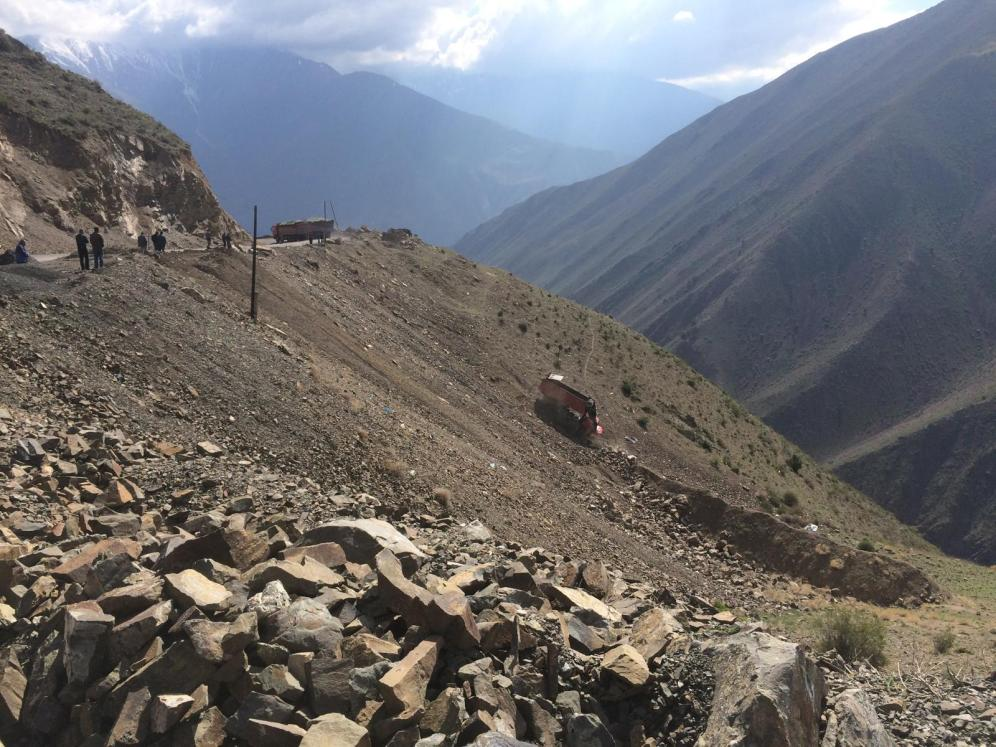 Bergearbeiten in unwegsamen Terrain