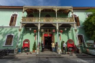 """Das prunkvolle Haus einer """"Perankanan"""" Familie ist heute ein Museum."""