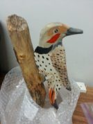 One of Cordy's life-size bird models