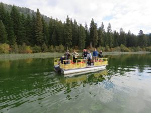 Upper Basin Birder Citizen Science volunteers conducting a monthly bird survey at Fish Lake.