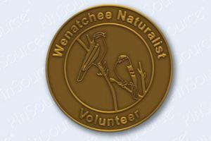 Wenatchee Naturalists earn a 20+ hour pin for volunteer service supporting conservation