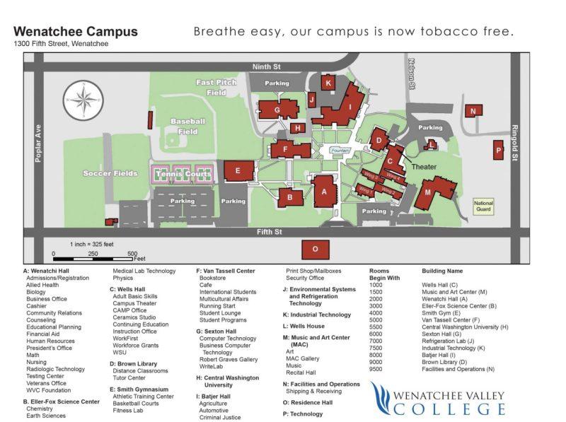 Wenatchee-campus-map-2013