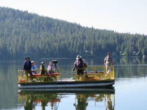 Upper Basin Birders on Fish Lake, July 2017