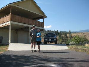 Goldfinch farmers, Carolyn & Jock Kinne at their Wenatchee Heights Home